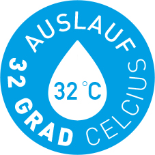 Auslauf 32 °C